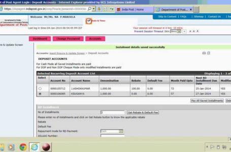 India Post Internet Banking Facility